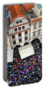 Rainy Day In Prague-1 Portable Battery Charger by Diane Macdonald