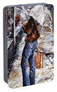 Rainy Day - Woman Of New York 15 Portable Battery Charger