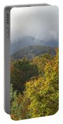Rainy Fall Day In The Mountains Portable Battery Charger