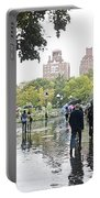 Rainy Washington Park  Portable Battery Charger