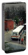 Raleigh Bus Terminal - Evening Portable Battery Charger by Paulette B Wright
