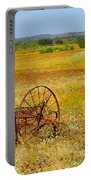 Ranch And Wildflowers And Old Implement 2am-110547 Portable Battery Charger