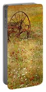 Ranch And Wildflowers And Old Implement 2am-110546 Portable Battery Charger