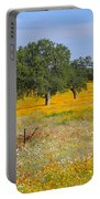 Ranch And Wildflowers And Old Implement 2am-110556 Portable Battery Charger