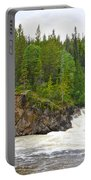 Rancheria Falls Along Alaska Highway In Yk-canada   Portable Battery Charger