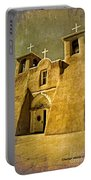 Ranchos Church In Old Gold Portable Battery Charger