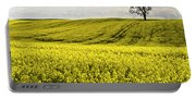 Rape Landscape With Lonely Tree Portable Battery Charger