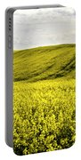 Rape Landscape With Lonely Tree Portable Battery Charger by Heiko Koehrer-Wagner