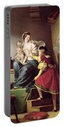 Raphael Adjusting His Model's Pose For His Painting Of The Virgin And Child  Portable Battery Charger
