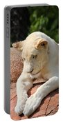 Rare Female White Lion Portable Battery Charger