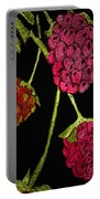 Raspberry Fabric Portable Battery Charger