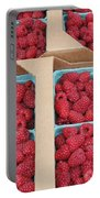 Raspberry Pints In Cardboard Flats Portable Battery Charger