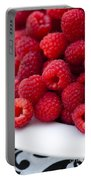 Raspberry Red Portable Battery Charger