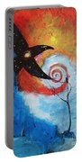 Raven In The Swirl Portable Battery Charger