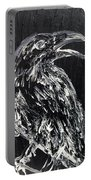 Raven On The Branch - Oil Painting Portable Battery Charger