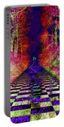 Rawa River Abstract Art Portable Battery Charger by Mary Clanahan