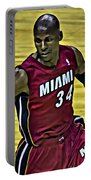 Ray Allen Portrait Portable Battery Charger
