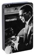 Ray Charles At The Piano Portable Battery Charger