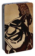 Ray Charles Original Coffee Painting Portable Battery Charger