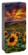 Rays Of Sunflowers Portable Battery Charger