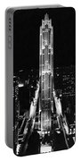Rca Building At Night In Nyc Portable Battery Charger