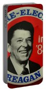 Re-elect Reagan Portable Battery Charger by Paul Ward
