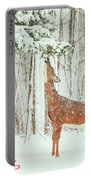 Reach For It Happy Holidays Portable Battery Charger by Karol Livote