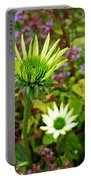 Reaching Coneflower Portable Battery Charger