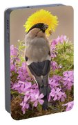 Rear View Of Female Bullfinch Standing Portable Battery Charger