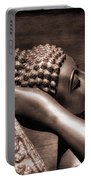Reclining Buddha Portable Battery Charger by Adrian Evans