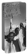 Recognize Martin Luther King Day Rally Tucson Arizona 1991 Black And White Portable Battery Charger