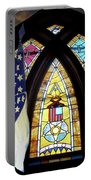 Recollection Union Soldier Stained Glass Window Digital Art Portable Battery Charger