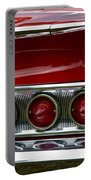 Red 1960 Chevy Tail Light Portable Battery Charger