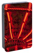 Red Abstract Carnival Lights Portable Battery Charger