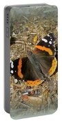 Red Admiral Butterfly - Vanessa Atalanta Portable Battery Charger