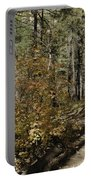 Red Among The Pines Portable Battery Charger