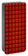 Red And Black Checkered Tablecloth Cloth Background Portable Battery Charger