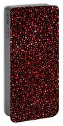 Red And Black Circles Portable Battery Charger