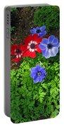 Red And Blue Anemones Portable Battery Charger