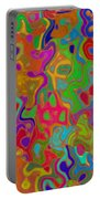 Red And Gold Abstract Portable Battery Charger