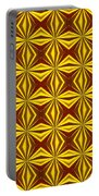 Red And Gold Christmas Abstract Portable Battery Charger
