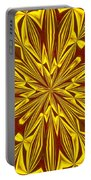 Red And Gold Christmas Kaleidescope Portable Battery Charger