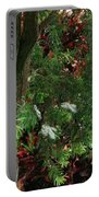 Red And Green Foliage Portable Battery Charger