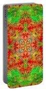 Red And Green Sun Mandala Portable Battery Charger