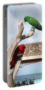 Red And Green Parrots Portable Battery Charger