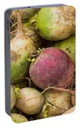 Red And Green Radishes Portable Battery Charger