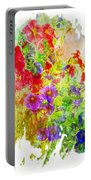 Red And Purple Calibrachoa - Digital Paint II Portable Battery Charger