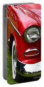 Red And White 50's Chevy Portable Battery Charger