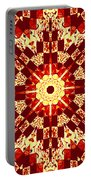 Red And White Patchwork Art Portable Battery Charger