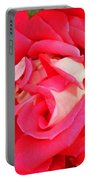 Red And White Rose Portable Battery Charger